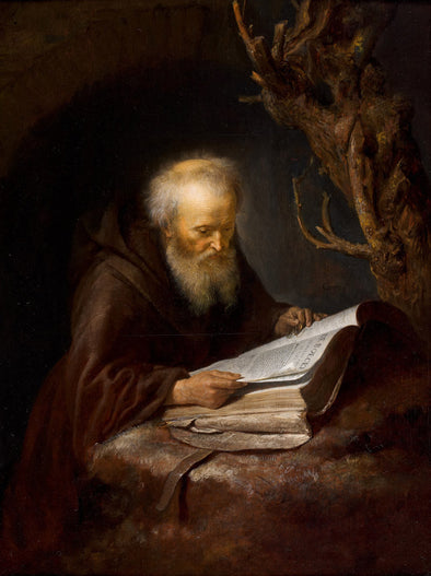 Gerrit Dou - A Hermit Saint Reading in a Cav