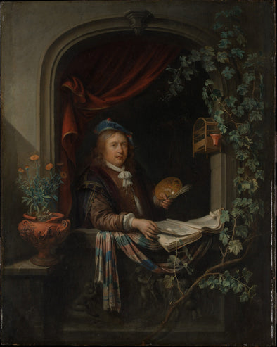 Gerrit Dou - Self-Portrait with a Palette