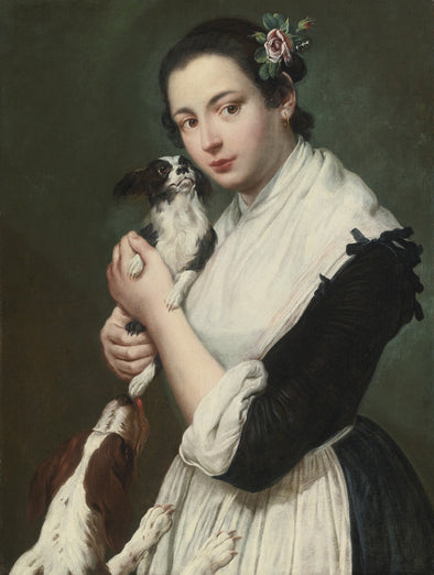 Giacomo Ceruti - A Young Lady with two Dogs