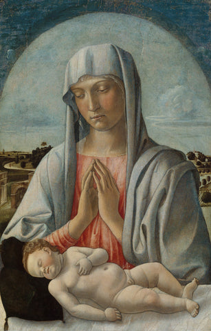 Giovanni Bellini - Madonna Adoring the Sleeping Child