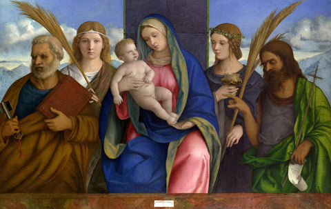 Giovanni Bellini - Madonna and Child with Saints
