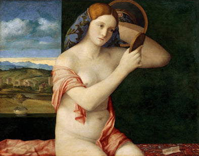 Giovanni Bellini - Naked Young Woman in Front of the Mirror