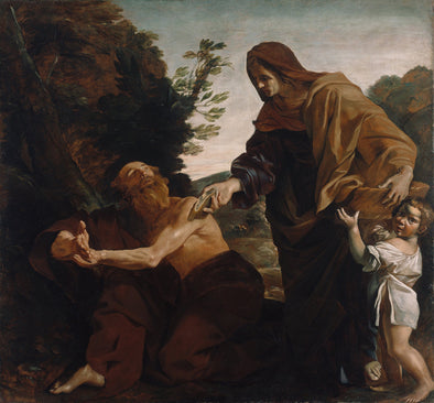 Giovanni Lanfranco - Elijah Receiving Bread from the Widow of Zarephath