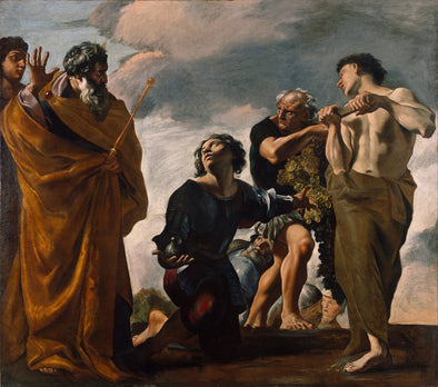 Giovanni Lanfranco - Moses and the Messengers from Canaan
