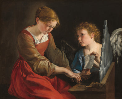 Giovanni Lanfranco - Saint Cecilia and an Angel