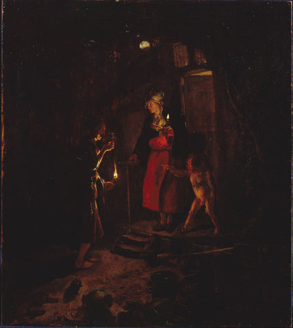 Godfried Schalcken - Ceres at the Cottage