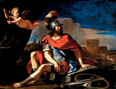 Guercino - Mars with Cupid