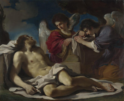 Guercino - The Dead Christ mourned by Two Angels