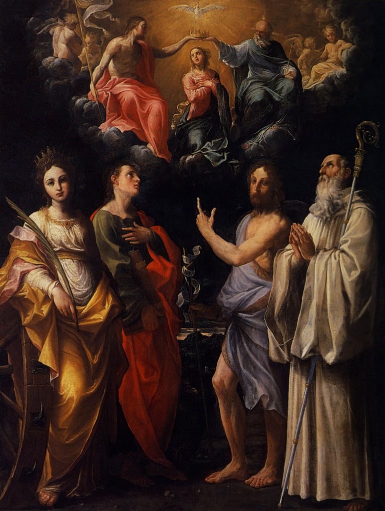 Guido Reni - Coronation of Virgin with St Catherine of Alexandria