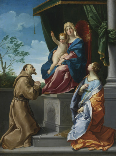 Guido Reni - The Virgin and Child Enthroned with Saints Francis and Catherine