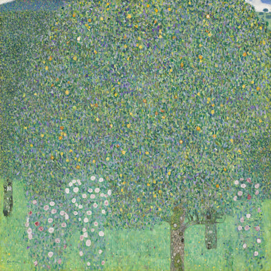 Gustav Klimt - Rose Bushes Under Trees