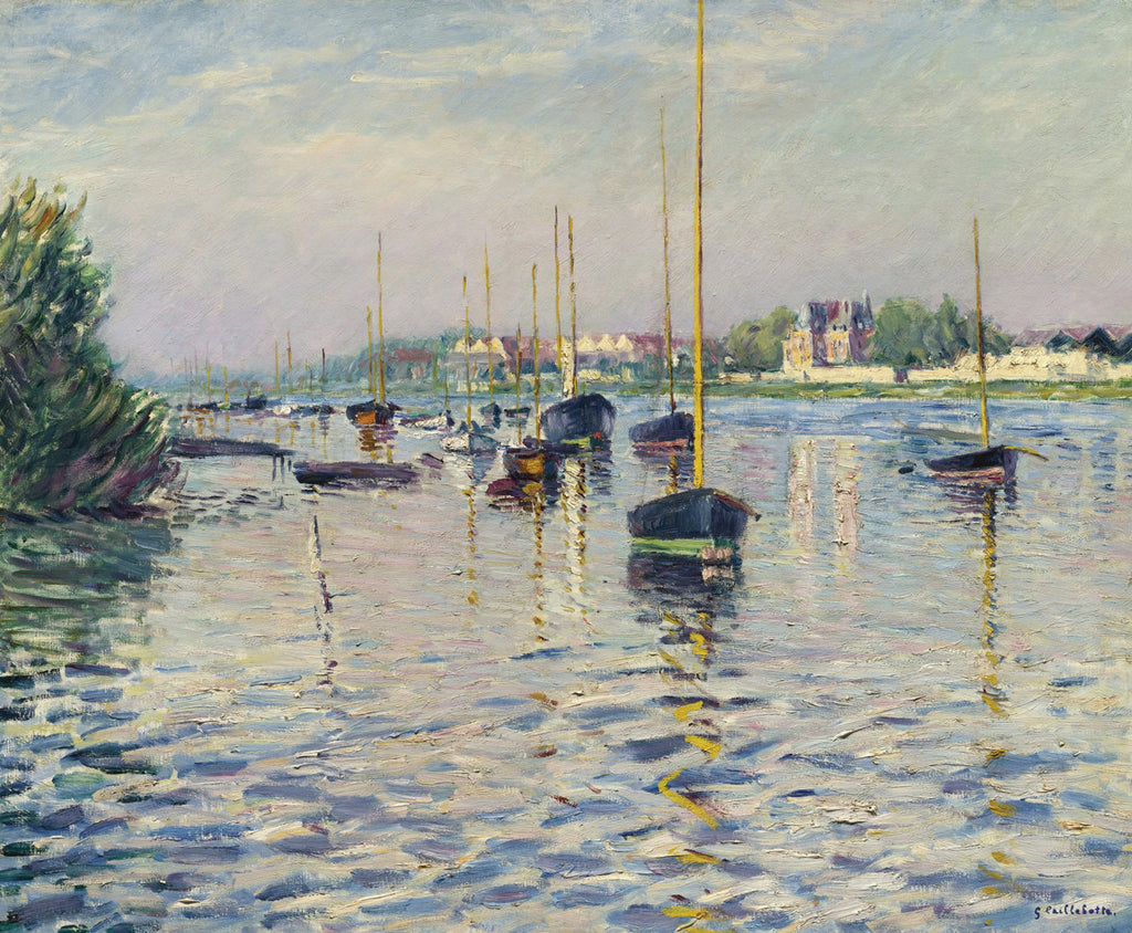 Gustave Caillebotte - Boats at Anchor on the Seine at Argenteuil