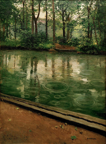 Gustave Caillebotte - L'Yerres, pluie