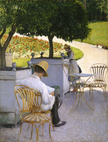 Gustave Caillebotte - Les orangers