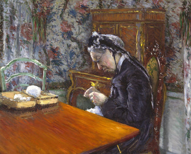 Gustave Caillebotte - Mademoiselle Boissière Knitting