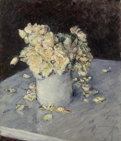 Gustave Caillebotte - Yellow Roses in a Vase