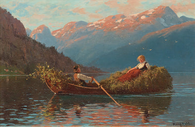 Hans Dahl - On the way back from work, Western Norway