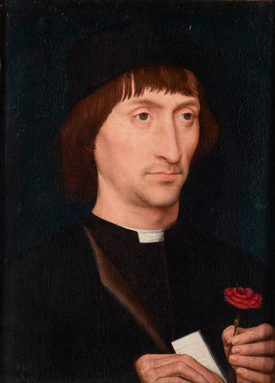 Hans Memling - Portrait of a Man with a Pink
