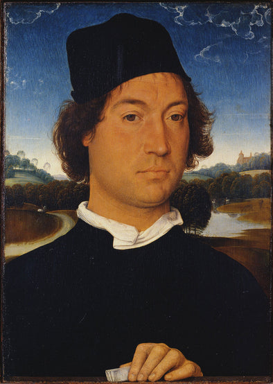 Hans Memling - Portrait of an Unknown Man with a Letter