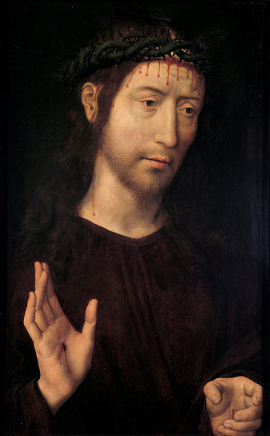 Hans Memling - The Man of Sorrows Blessing