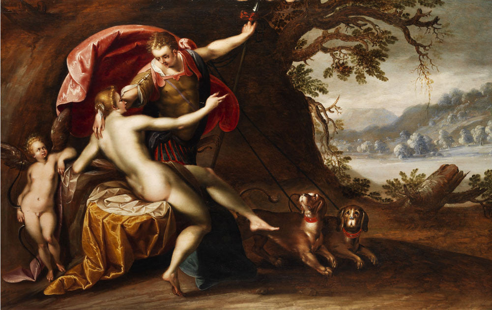 Hans Von Aachen - Venus and Adonis with Hounds