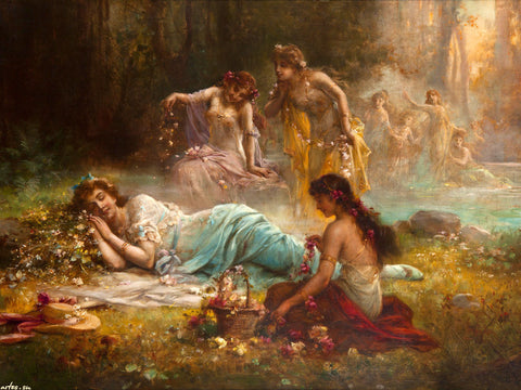 Hans Zatzka - A Dream in the Forest