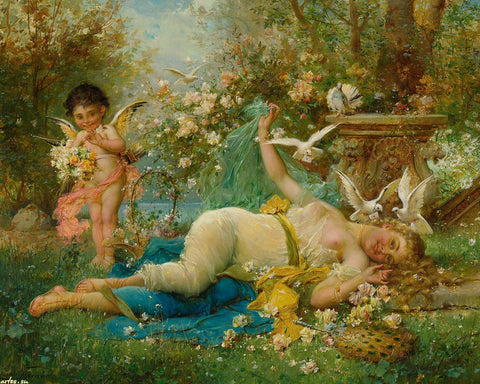 Hans Zatzka - Venus and Cupid
