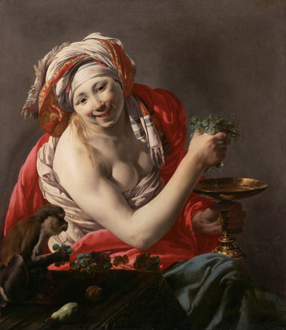 Hendrick Terbrugghen - Bacchante with an Ape