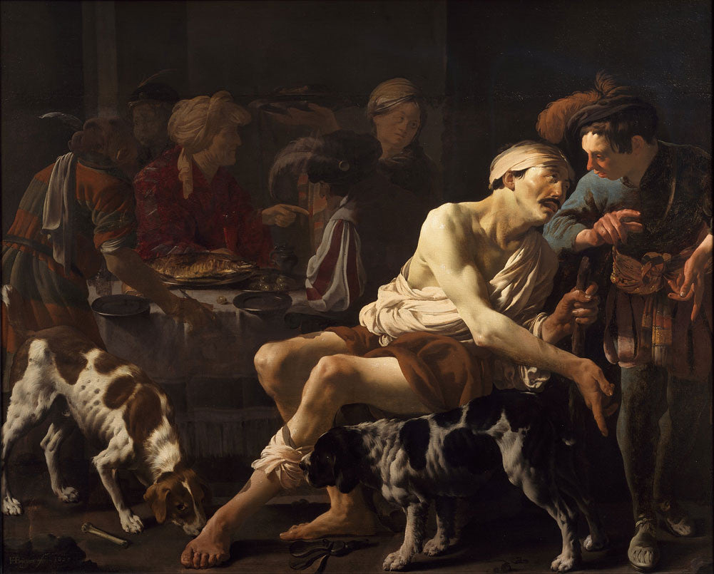 Hendrick Terbrugghen - The Rich Man and the Poor Lazarus