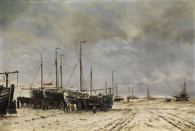 Hendrik Willem Mesdag - Polder Seascape with frozen ships