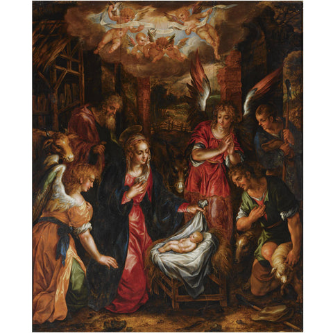Hendrik de Clerck - The Adoration of the Shepherds