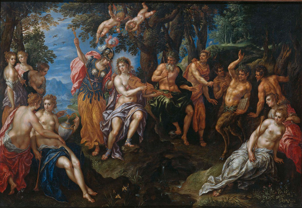 Hendrik de Clerck - The Contest Between Apollo and Pan