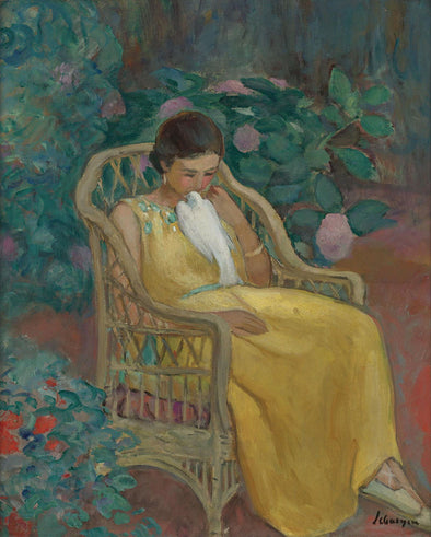 Henri Lebasque - Young Woman with a Dove