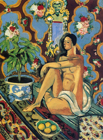 Henri Matisse - Decorative Figure on an Ornamental Background