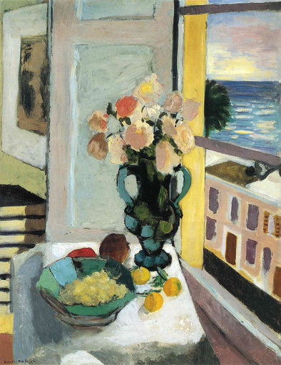 Henri Matisse - Flowers in front of a Window