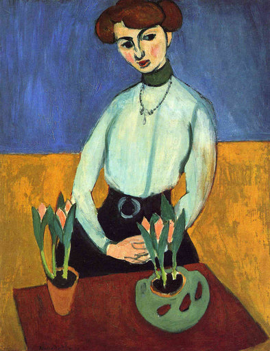 Henri Matisse - Girl with Tulips