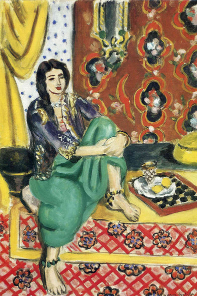 Henri Matisse - Odalisque Sitting With Board