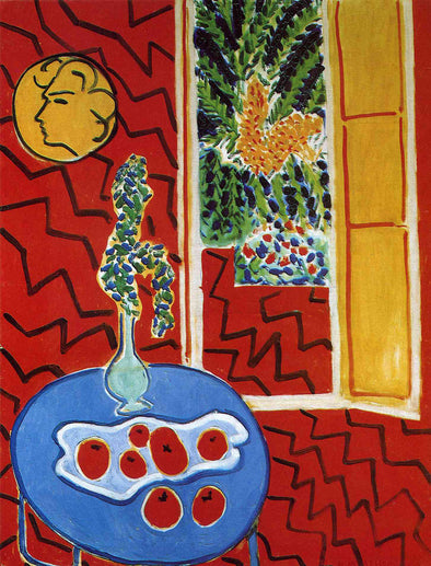 Henri Matisse - Red Interior Still Life on a Blue Table