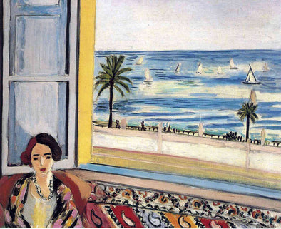 Henri Matisse - Seated Woman Back Turned to the Open Window