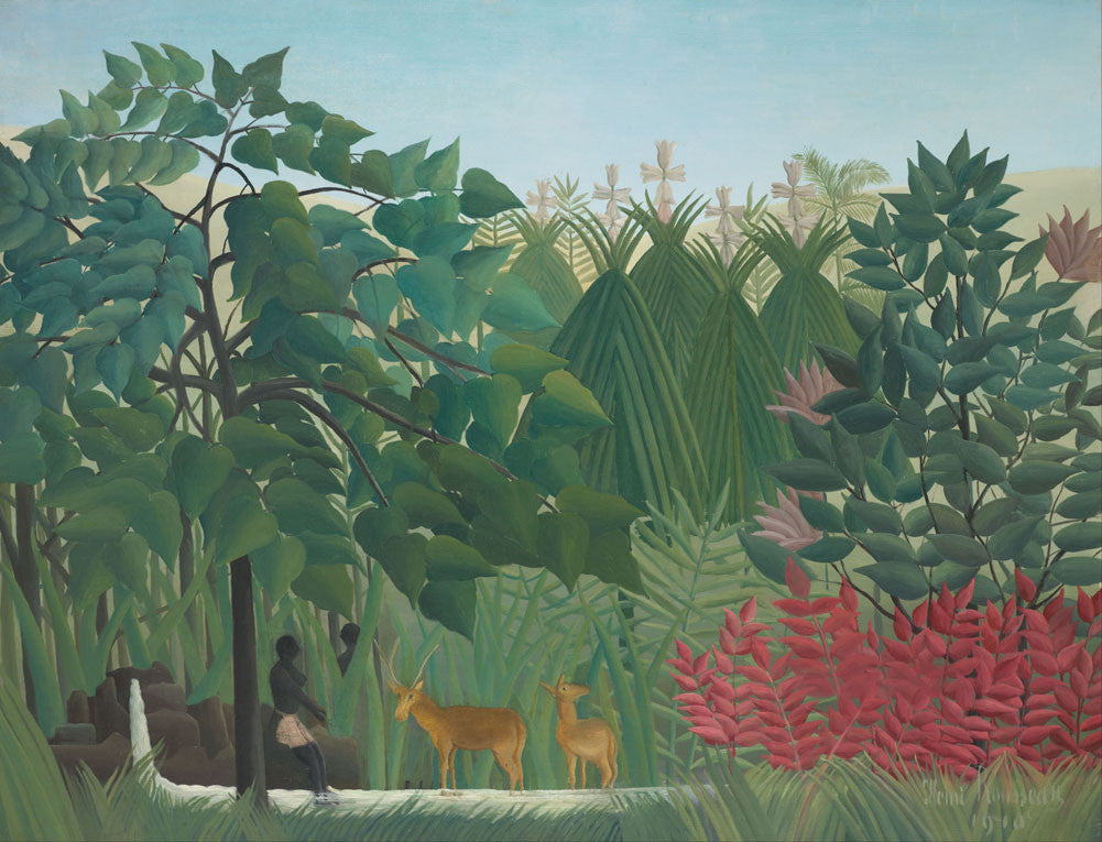 Henri Rousseau - The Waterfall