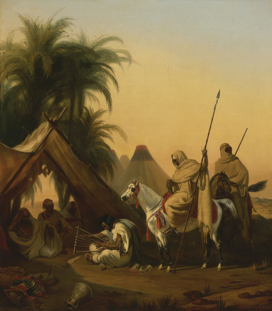 Horace Vernet - Horsemen and Arab Chiefs Listening to a Musician