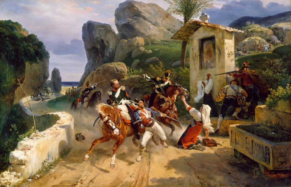 Horace Vernet - Italian Brigands Surprised by Papal Troops