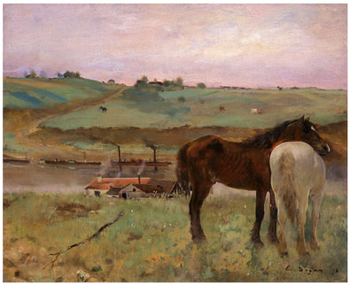 Edgar Degas - Horse in a Meadow