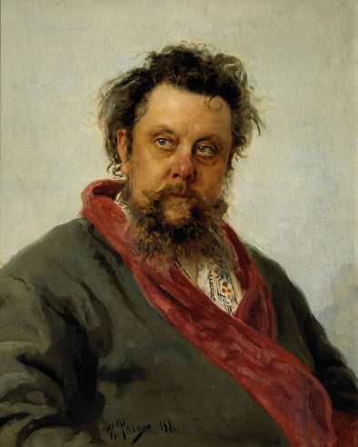 Ilya Repin - Portrait of the Composer Modest Mussorgsky