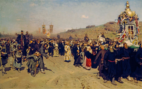 Ilya Repin - Religious Procession in Kursk Province