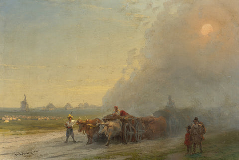 Ivan Konstantinovich Aivazovsky - Ox Carts in the Ukrainian Steppe