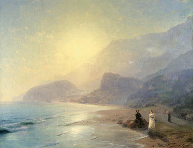 Ivan Konstantinovich Aivazovsky - Pushkin and Countess Raevskaya by the Sea Near Gurzuf and Partenit