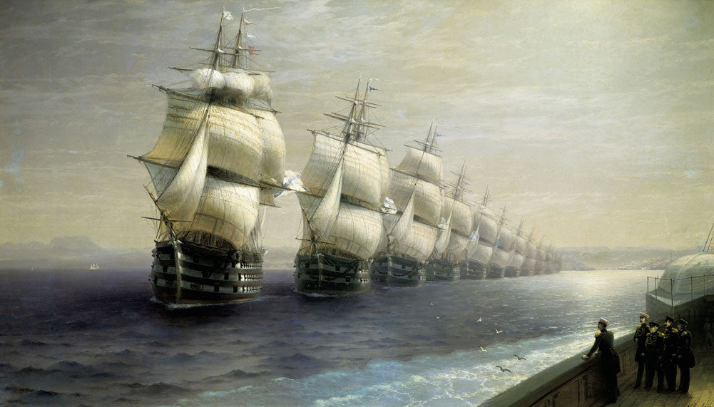Ivan Konstantinovich Aivazovsky - Review of the Black Sea Fleet in 1849