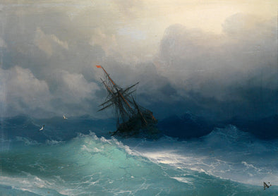 Ivan Konstantinovich Aivazovsky - Ship on a Stormy Sea