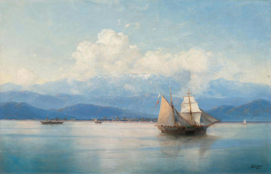 Ivan Konstantinovich Aivazovsky - Ships Before the Caucasian Coast